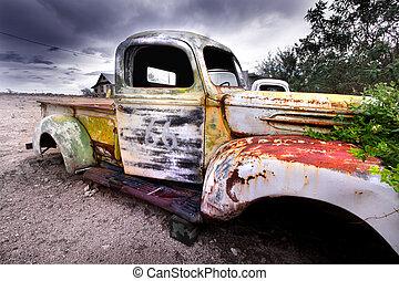 rustic, alter lastwagen