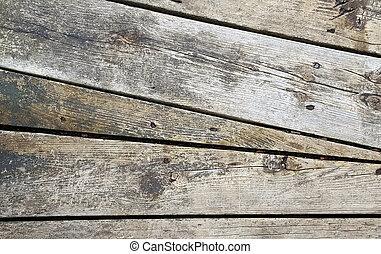 rustic angled wood design
