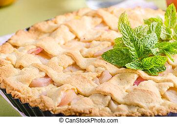 Rustic apple pie