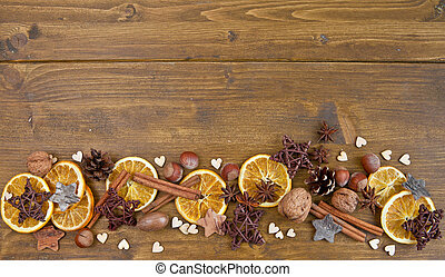 Rustic background for christmas - Rustic background with...
