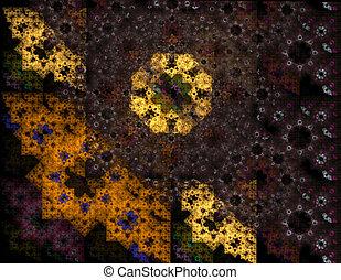 rustic background, retro geometric abstract illustration