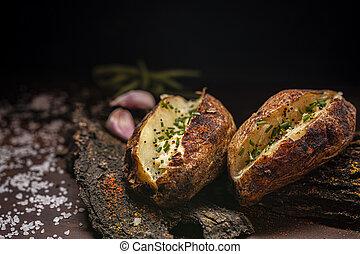 Rustic baked potatoes