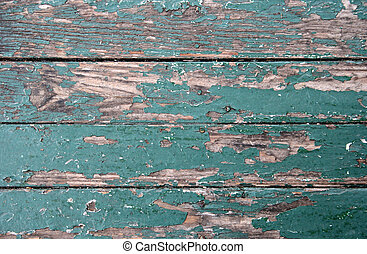 Rustic Boards - Old worn floorboards with sun-faded peeling...