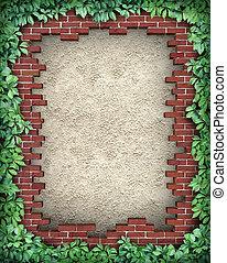 Rustic Broken Brick Frame