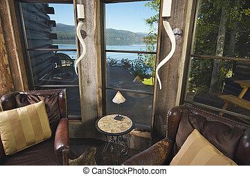 Rustic Cabin Reading Room