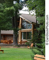 Rustic cabin - Rustic log cabin in the trees