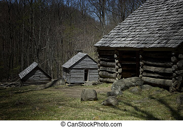 Rustic cabins, Smoky mountains nati - Rustic cabins, bales...