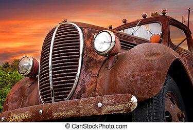 Rustic car