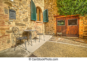 Rustic corner on a sunny day in Tuscany