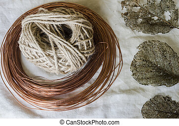 rustic craft materials
