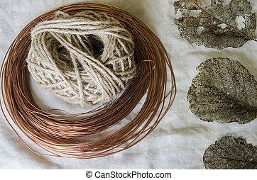 rustic craft materials