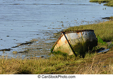 Rustic Dingy in creek