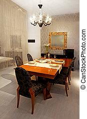 Rustic dinner room
