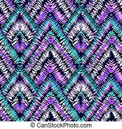 Rustic embroidery seamless pattern.Vector traditional...