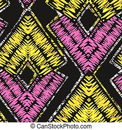 Rustic embroidery seamless pattern.