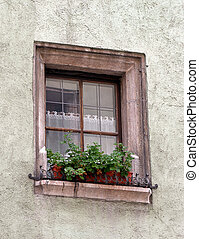 rustic European window