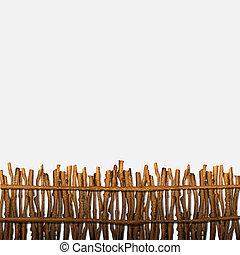 Rustic fence. Vector illustration
