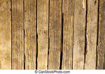 Rustic Fence - Rustic, decaying, and rotting wooden fence...