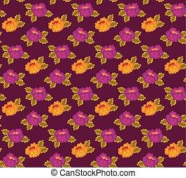 rustic floral peoni pattern vector illustration