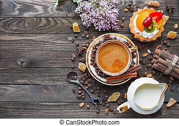 sommer lila ingwer ansicht fruehstueck morning milch becher weinlese oberseite zucker. Black Bedroom Furniture Sets. Home Design Ideas