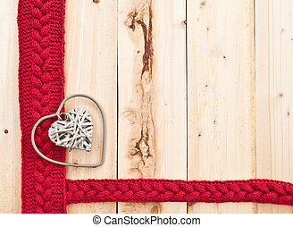 rustic, herz, holz