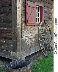 Rustic Homestead - A Rustic Fronteer homestead building at...
