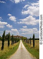 Rustic house in Chiantishire, Tuscany - Path leas to a ...
