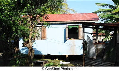 rustic house Nicaragua - rustic native house zinc roof Corn...