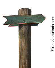 Rustic Isolated Blank Wooden Sign
