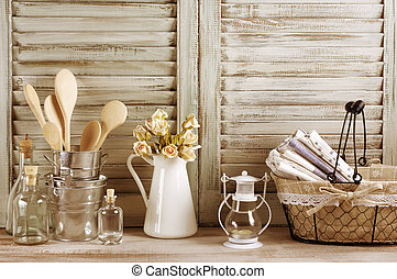 Rustic kitchen still life