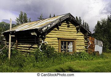 Rustic log cabin