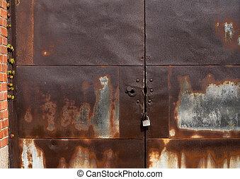 Rustic metal gate