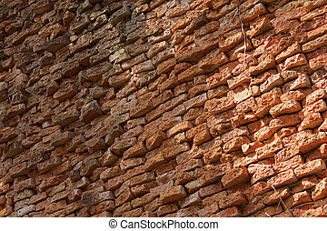 Rustic Old Brick Wall Background