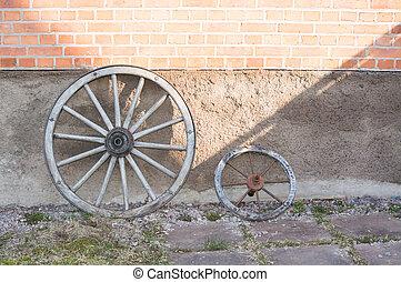 Rustic old wood wheels