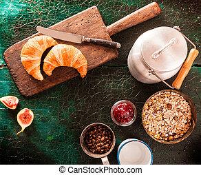 Rustic or country breakfast