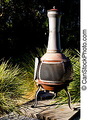Outdoor Fire Chimenea fireplace