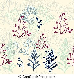 Rustic pattern vector florals and branches.eps - Rustic...