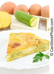 Rustic pie with vegetables