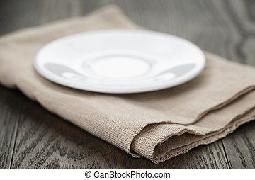 Rustic, Platte, leerer, Tisch