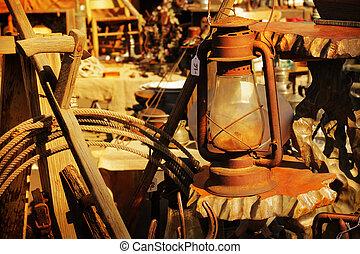 rustic, posten, gruppe, verkauf