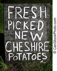 Rustic Potatoes Sign