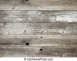 Rustic silver grey weathered barn wood board background...