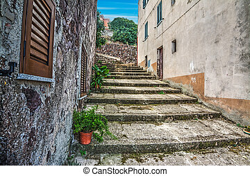 rustic stairs in Sardinia, Italy