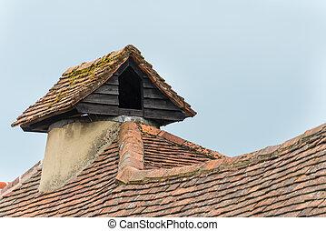 rustic, taube, dachgeschoss