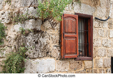 Rustic Wall and Window