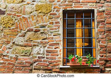 rustic window in Tuscany