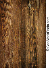 Rustic wood background - Brown rustic wood grain texture as...
