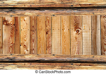 rustic wooden frame background