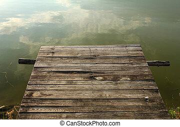 rustic wooden pier