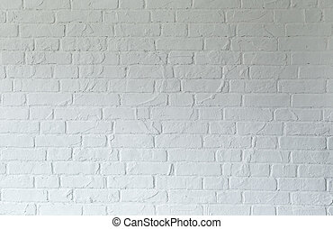 rustical white brick wall in the apartment,